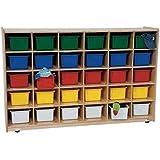 kidu0027s play 30 tray storage unit w assorted trays green apple