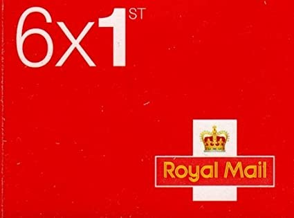Book of 6 x 1st Class Royal Mail Postage Stamps (Design may vary): Amazon.co.uk: Kitchen & Home
