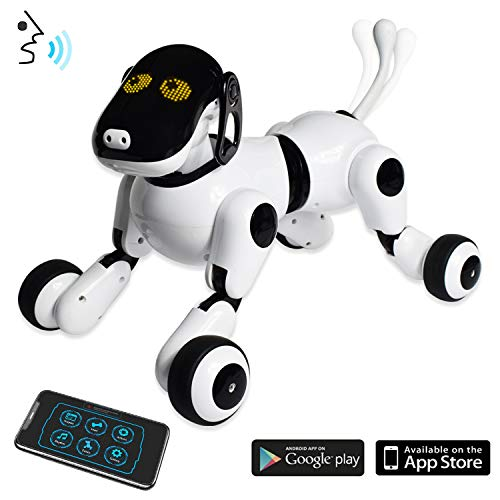 (Puppy Smart Voice & App Controlled Kids Robot Dog Toy | Interactive, Dances, Sings, Plays Music w/Touch Motion Control for Boys & Girls White)