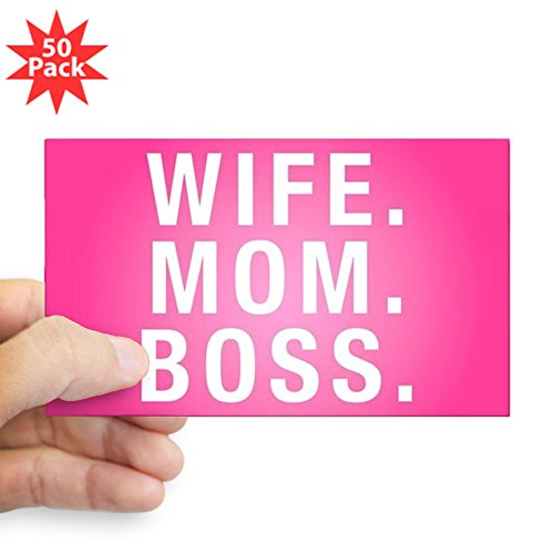 CafePress - Wife Mom Boss - Sticker (Rectangle 50 pk) by CafePress