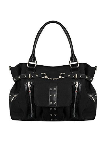 Black Rise Banned 39x26x14 5cm Handbag Handcuff Up nHBBxq6P8