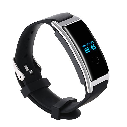 LESHP Fitness Trackers Wireless Waterproof Activity Smart Bracelet with Heart Rate Monitors OLED Display Multi-Functions Watch for IOS Android