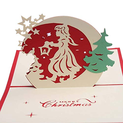 Price comparison product image Clearance Sale!DEESEE(TM)Details About 3D Pop Up Card Christmas Greeting Baby Gift Holiday Happy New (E)