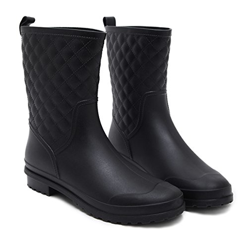 f793d0d39660 Asgard Women s Mid Calf Rain Boots Waterproof Garden Shoes