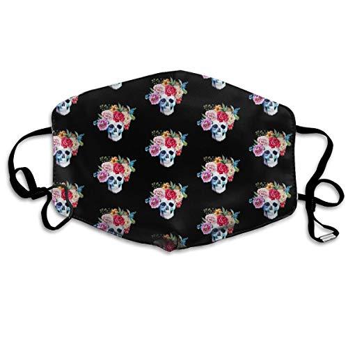 4 Colorful Skull Black Mask Mouth Mask Neck