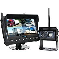 Wireless Backup Camera System (RVS-4CAM) - 7 Quad View Display with Built-in DVR by Rear View Safety