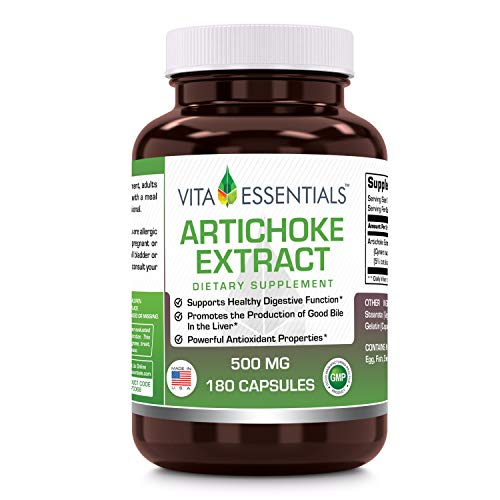 Vita Essentials Artichoke Extract 500 Mg Capsules. 180 - Artichoke Capsules