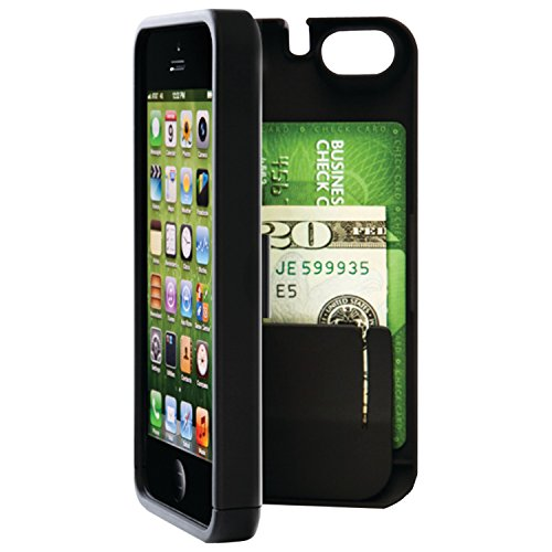 EYN (Everything You Need) Smartphone Case for iPhone 5/5s - Black (eynblack5) (Iphone 5 Storage Case compare prices)