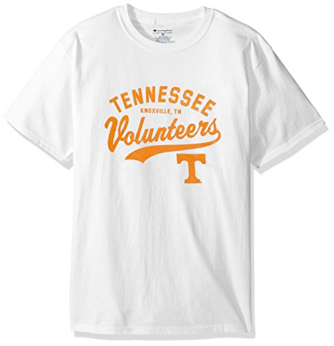 NCAA Tennessee Volunteers Men's Champ Short Sleeve T-Shirt 8, X-Large, White ()