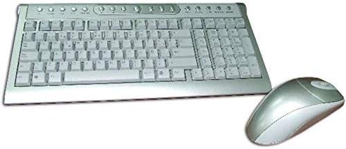 SATYCON Teclado Multimedia Y Raton USB Bola INALAMBRICO ...