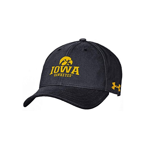 Iowa Hawkeyes 100% Cotton (NCAA Iowa Hawkeyes Youth Garment Washed Cotton Adjustable Hat, One Size, Black)