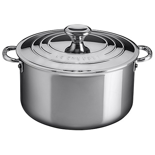 (Le Creuset of America Stainless Steel Deep Casserole with Lid, 3-Quart, Stainless)
