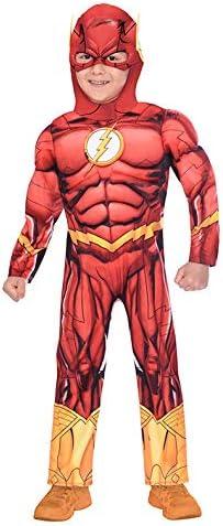 Disfraz de disfraces Flash de superhéroe para niños Edad: 3-4 años ...