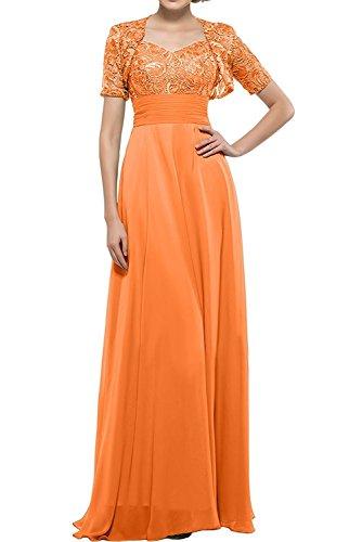 Spitze Kurzarm Blau Bodenlang Abschlussballkleider Ballkleider mia La Herrlich Abendkleider Orange Bolero Braut Promkleider mit xqP6wZwI