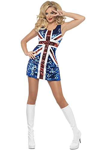 Cheap Halloween Costumes Uk - All that Glitters Rule Britannia Adult Costume - Small