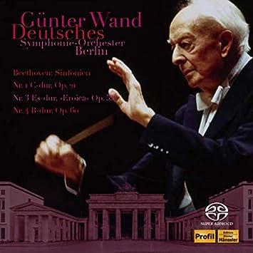 ギュンター・ヴァント 不滅の名盤[3] / ベルリン・ドイツ交響楽団編 ~ ベートーヴェン : 交響曲第1番、第3番、第4番 (Beethoven : Sinfonien Nr.1, 3, 4 / Gunter Wand, Deutsches Symphonie-Orchester Berlin) [2SACD Hybrid] [Live] [国内プレス] [日本語帯・解説付]