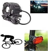 farol bile bicicleta super forte 6 baterias led cree recarregável brinde lanterna bike a pilhas traseira