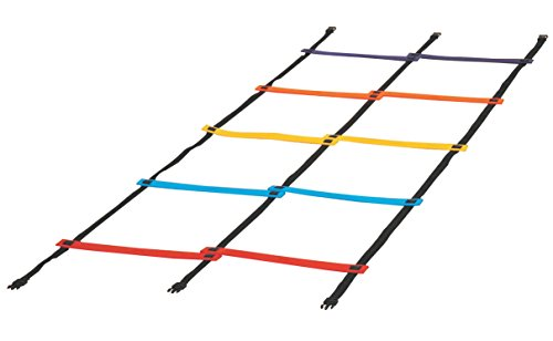 Sportime 1478709 Anti-Skid Double Agility Ladder, Rubber, 29-1/2' x 32-1/2