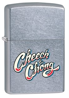 Zippo Stamp Street (Zippo Cheech and Chong Pocket Lighter with Colorful Logo)