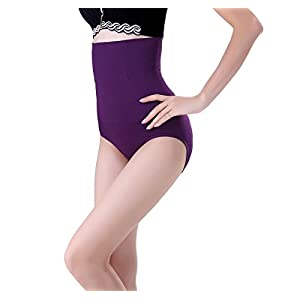 E-FAK Women Slim Soft Seamless Thin High Waist Control Panties Shapers