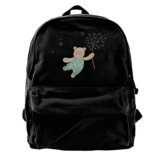 AiguanTeddy Bear Performance Black Canvas Backpack for sale  Delivered anywhere in USA