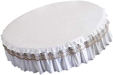 Sharplace 2 Pièces Couvre-lit Parures de Lit Dessus de Lits Jupe de Lits Ronde avec Jupe en Soie pour Chambre Fille Enfant