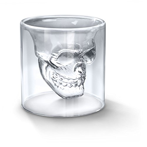 BeBr Crystal Skull Shot Glasses Double Wall Glass