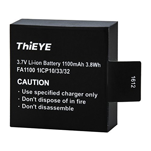 (ThiEYE T5e / E7 / T5 Edge Action Camera Original Battery Rechargeable Spare Battery 1100mAH 3.7 V Li-ion)