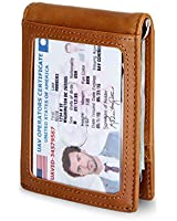 Travel Wallet RFID Blocking Bifold Slim Genuine...