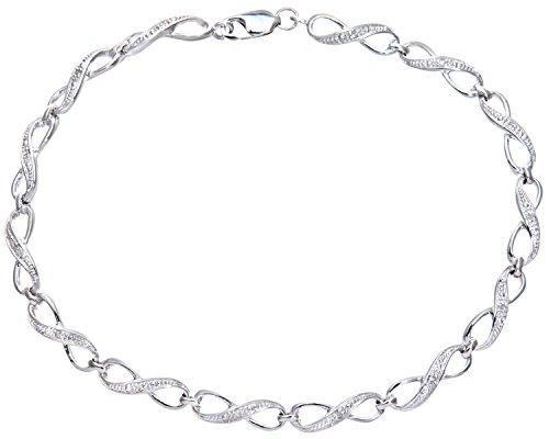 Naava - PBC02564W - Bracelet Femme - Or Blanc 9 cts 4.5 Gr - Diamants