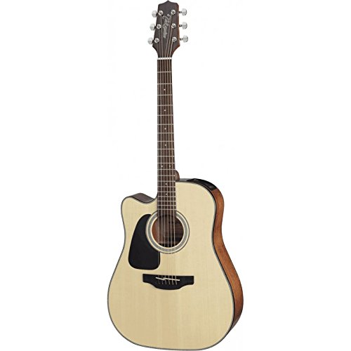(Takamine GD30CELH-NAT Acoustic-Electric Guitar Left-Handed Dreadnought Cutaway, Natural)