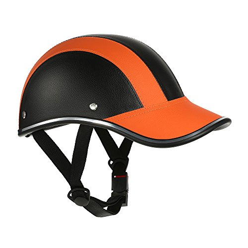 Motorcycle Helmet Half Face Baseball Cap Style with Sun Visor ()