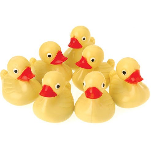 - US Toy Hard Plastic Yellow Duck Pond Floaters (Lot of 12), 3