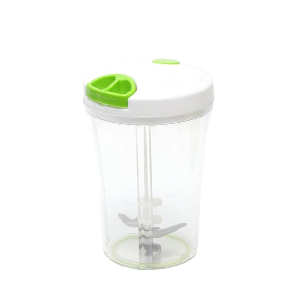 UMFun Multi-function Salad Crusher Food Processor Manual Meat Machine Crusher Chopper Veggie Chopper (White)