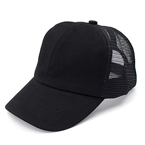 Opromo Unisex 2 Tone Trucker Hat Low Profile Garment Washed Meshback Cap-Black-Kids