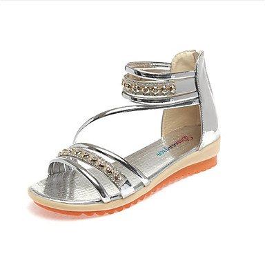 LvYuan de las mujeres otro vestido de la PU de las sandalias del verano del resorte Silver