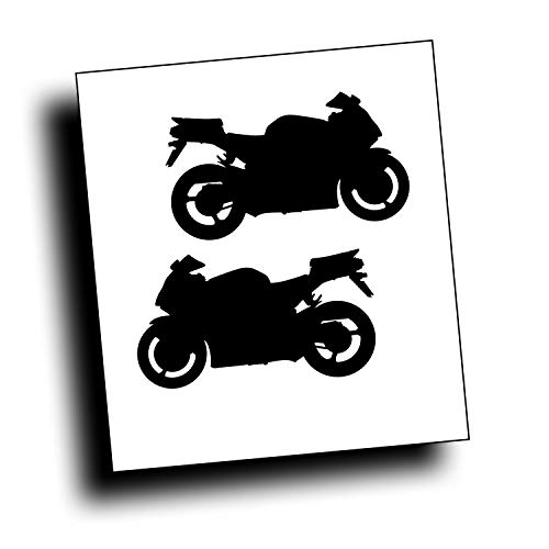 Solar Graphics USA Pair of Decals - F4I CBR Motorcycle, Crotch Rocket Sport Bike Left and Right Compatible with Honda Bike or Trailer, Each Decal Approximately 3 x 6 1/2 inch Black