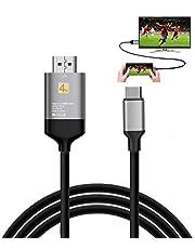 DUTISON USB C a HDMI Cable (4K@60Hz) Compatible con Samsung Galaxy S8/S9/S8 Plus/S9 Plus/Note8/ Note9, Huawei Mate 10/10 Pro/P20/P20 Pro, iPad Pro 2018/ MacBook/MacBook Pro/iMac - 2m