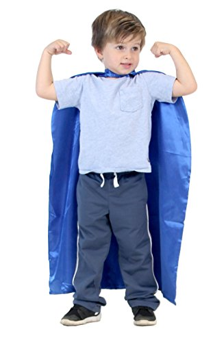 Customize Your Own Halloween Costumes (Reversible Child Blue and Blue Superhero Custom Personalized Costume Cape (Child))