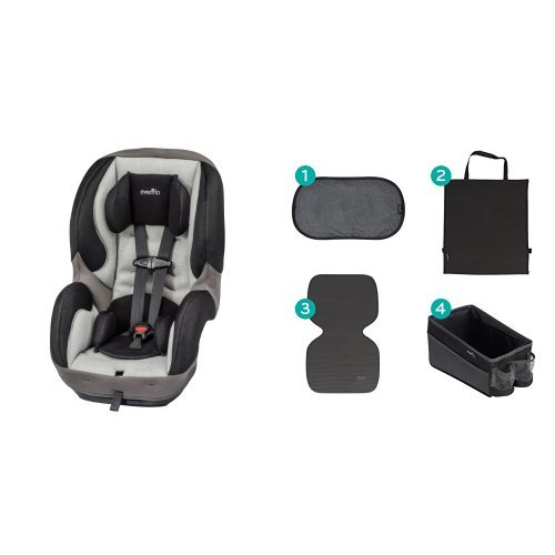 Evenflo SureRide DLX Convertible Car Seat, Paxton with Car Seat Accessory Kit