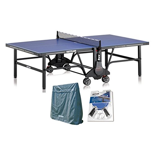 Kettler Champ 5.0 Outdoor Table Tennis Table with Outdoor Accessory Bundle by Kettler