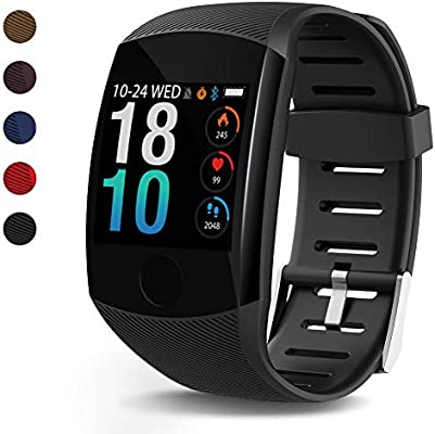 LEKOO Fitness Tracker - Activity Tracker with Step Counter - Waterproof SmartWatch with Heart Rate Monitor - Fit Watch Sleep Monitor Step Counter for ...