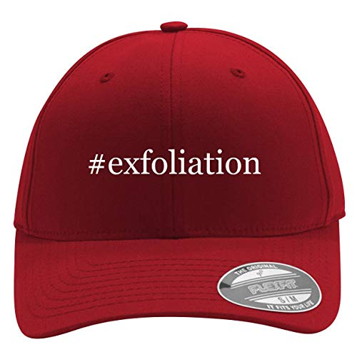 #Exfoliation - Men's Hashtag Flexfit Baseball Cap Hat, Red, Large/X-Large