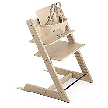 Amazon.com: Stokke Tripp Trapp roble silla, color blanco y ...