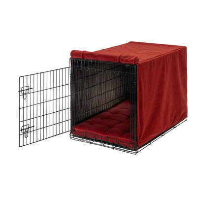Bowsers Luxury Crate Cover, Large, Cherry Bones