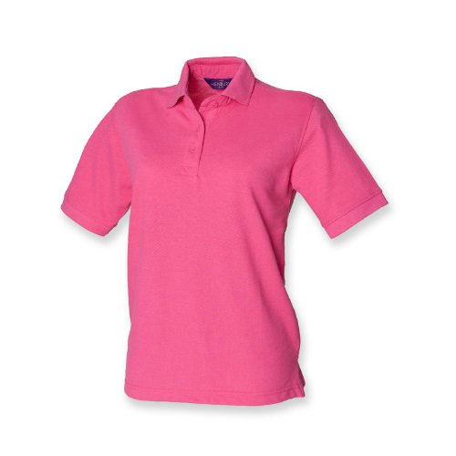 Henbury Frauen 65/35 polo Fuchsia 2XL