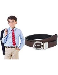 Boys Reversible Belt SUOSDEY Big Kids Leather Belt for School Uniform Casual Jeans