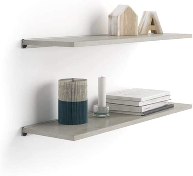 Mobili Fiver A 23.6x5.9 in Pair 2021 new of Aluminum Shelves Houston Mall with an Bra