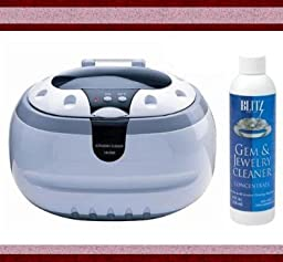 Sonic Wave Professional Ultrasonic Cleaner - Cleans Jewelry, Optics, Eyeglass, CD\'s, DVD\'s and Other Delicate Items , Blitz Jewelry and Gem Cleaner