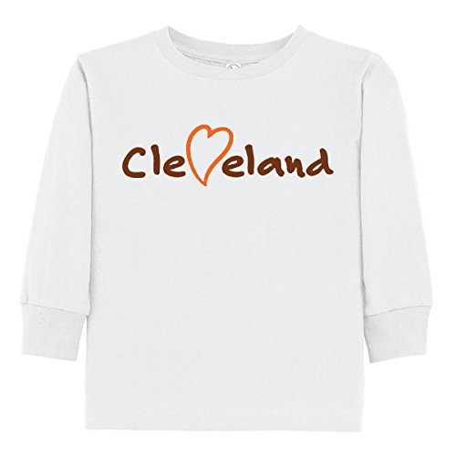 Ohio Ribbed Jersey - inktastic - Cleveland Heart Handwriting Toddler Long Sleeve T-Shirt 2T White